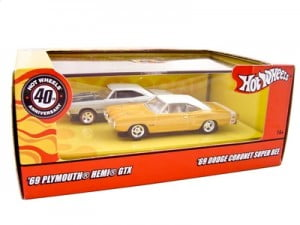 1969 Dodge Coronet Super Bee & 1969 Plymouth GTX Set 1 64 Diecast Car Models by Hotwheels