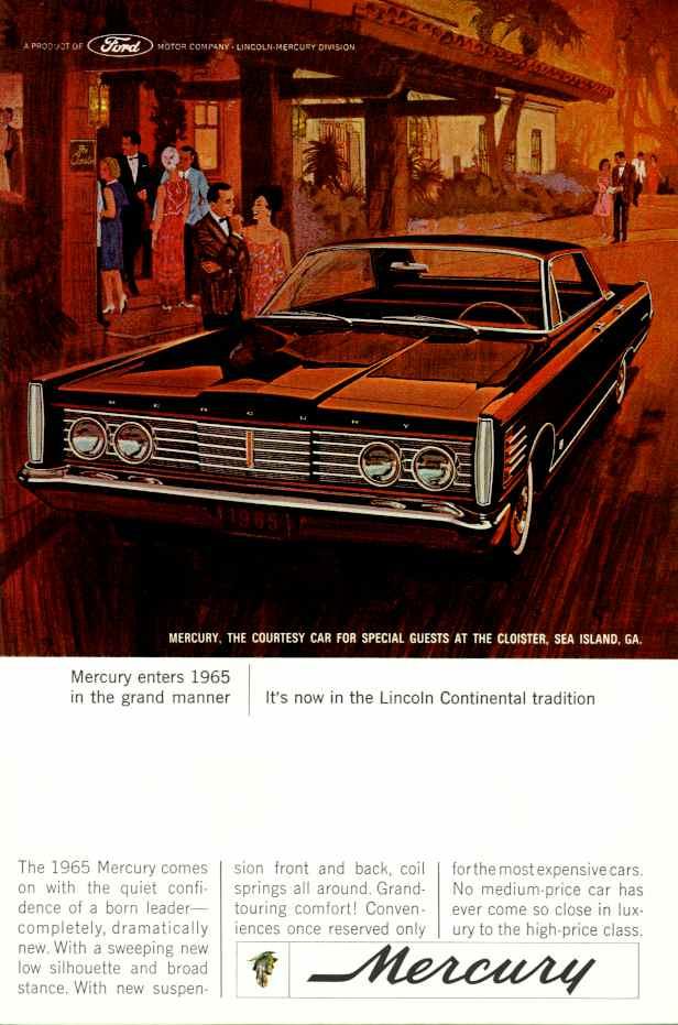 Mercury Ad on 1958 Corvette