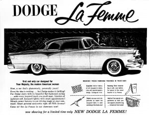 1955 Dodge La Femme advertisement featuring personal accessories