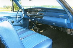 1968 PLYMOUTH ROAD RUNNER Interior