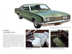 13 Bochure Mercury 1969