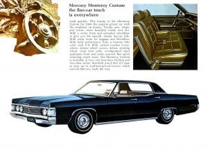 5 Bochure Mercury 1969