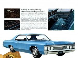 6 Bochure Mercury 1969