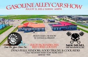 Gasoline Alley car show/ dyno @ Mudders Wash et S&M Diesel and mechanical garages