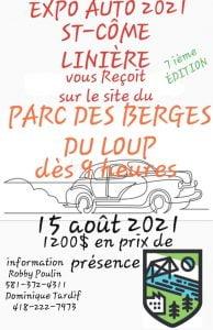 Expo St-Côme-Linière @ PARC DES BERGES DU LOUP