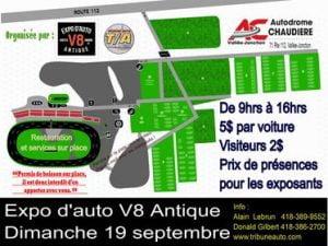 Expo d'auto V8 Antique (Annulé) @ Autodrome Chaudière